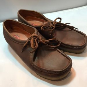 Clarks Original Wallabee 8 beeswax leather NICE